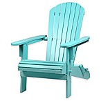Westerly Acacia Wood Adirondack Folding Chair in Turquoise