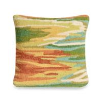 Liora Manne Frontporch Watercolor Square Throw Pillow in Green