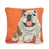 Liora Manne Frontporch Wet Kiss Square Throw Pillow in Orange