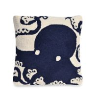 Liora Manne Frontporch Octopus Square Throw Pillow in Navy