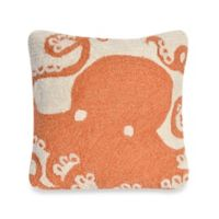 Liora Manne Frontporch Octopus Square Throw Pillow in Coral
