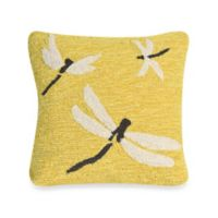 Liora Manne Frontporch Dragonfly Square Throw Pillow in Yellow