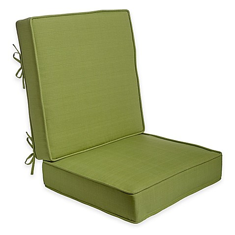 2 piece deep seat cushion in kiwi bed bath beyond for Bed bath beyond gel seat cushion