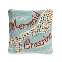 """Liora Manne Frontporch """"Mermaid Crossing"""" Square Throw Pillow in Water"""