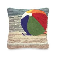 """Liora Manne Frontporch """"Life's A Beach"""" Square Throw Pillow in Sand"""