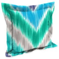 Chevron Square Outdoor Throw Pillow in Multi