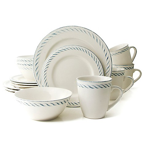 Thomson Pottery Nautical Dutch 16 Piece Dinnerware Set In