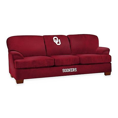 University of oklahoma first team microfiber sofa bed for Sectional sofas okc