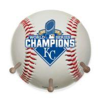 MLB Kansas City Royals 2015 World Series Logo Baseball Coat Rack