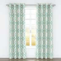 Colorfly™ Piper 84-Inch Grommet Top Window Curtain Panel Pair in Aqua
