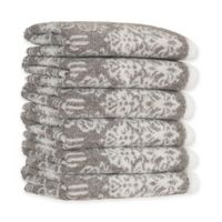 Linum Home Textiles Gioia Turkish Cotton Washcloths in Vintage Brown (Set of 6)