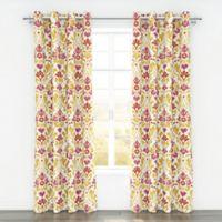 Colorfly™ Sasha 84-Inch Grommet Top Window Curtain Panel Pair in Sorbet