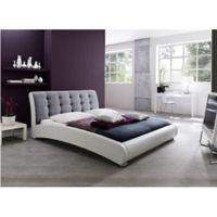 Baxton Studio Guerin Upholstered Queen Platform Bed in Grey
