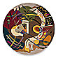 New Wave NW61 Multi-Colored 5-Foot 9-Inch Round Room Size Rug