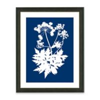 Framed Giclee Blue Nature Silhouette Print Wall Art II