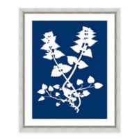 Framed Giclee Blue Nature Silhouette Print Wall Art III