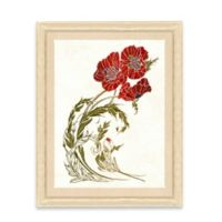 Framed Giclee Stylized Red Flower Print Wall Art I