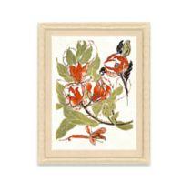 Framed Giclee Stylized Red Flower Print Wall Art II
