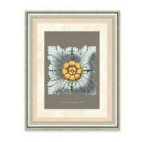 Framed Giclee Baby Blue Rosette Print Wall Art III