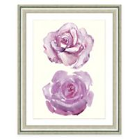 Framed Giclee Watercolor Rose Print Wall Art I
