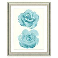 Framed Giclee Watercolor Rose Print Wall Art II