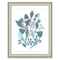 Framed Giclee Blue Botanical Watercolor Print Wall Art I