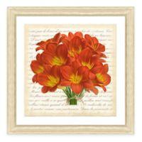 Framed Giclee Red Bouquet Botanical Print Wall Art II