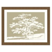 Framed Giclee Sepia Trees Print Wall Art I
