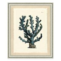 Blue Coral Print I Giclée Framed Wall Art