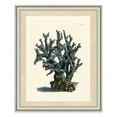 Blue Coral Print II Giclée Framed Wall Art