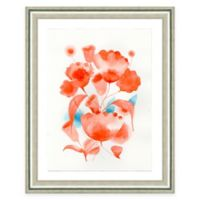 Framed Giclee Red Watercolor Flower Print Wall Art
