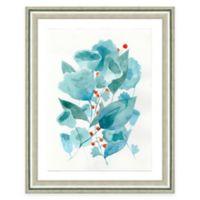 Framed Giclee Blue Watercolor Flower Print Wall Art