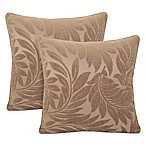 Arlee Home Fashions® Alessandra Chenille Jacquard Leaves Throw Pillow in Bamboo (Set of 2)