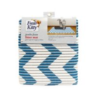 Fresh Kitty™ Jumbo Foam Litter Mat in Blue Chevron