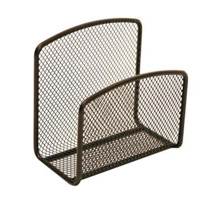 seville classics metal mesh napkin holder in bronze