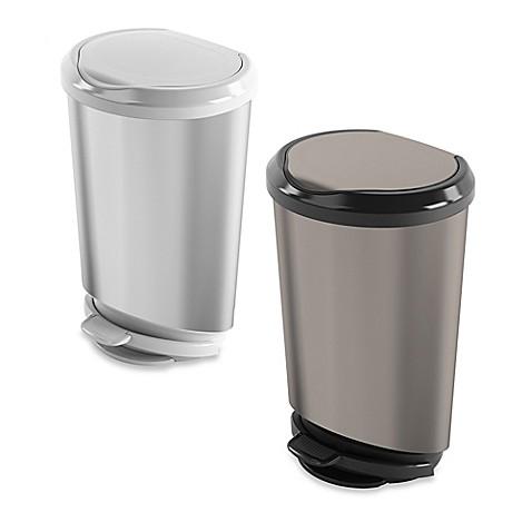 40 liter step on trash can bed bath beyond. Black Bedroom Furniture Sets. Home Design Ideas