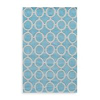 Rugs America Jourdan Circles 8-Foot x 10-Foot Area Rug in Light Blue