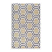 Rugs America Jourdan Crescent 2-Foot x 3-Foot Accent Rug in Gold