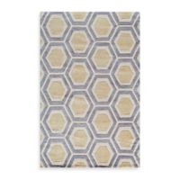 Rugs America Jourdan Crescent 8-Foot x 10-Foot Area Rug in Gold
