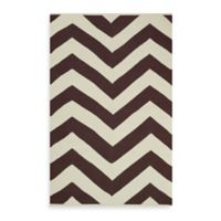 Fab Habitat Lexington Chevron 8-Foot x 10-Foot Area Rug in Coffee/Beige