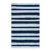 Fab Habitat Lucky Stripe 5-Foot x 8-Foot Indoor/Outdoor Area Rug in Blue/White
