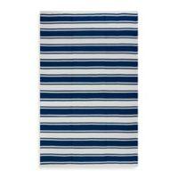 Fab Habitat Lucky Stripe 6-Foot x 9-Foot Indoor/Outdoor Area Rug in Blue/White