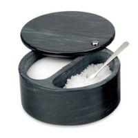 RSVP Swivel Top Marble Salt Box in Black