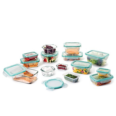 OXO Good Grips® 30 Piece SNAP™ Glass/Plastic Food Storage Container Set