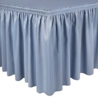 Shirred 13-Foot Polyester Table Skirt in Slate
