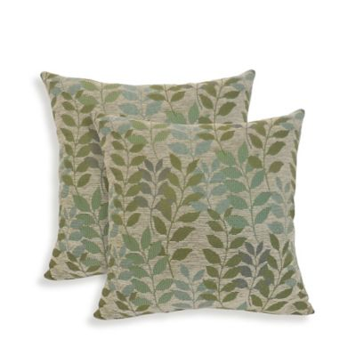 Chenille Throw Pillows Set Of 2 Clearance : Arlee Home Fashions Fabian Chenille Leaf Throw Pillows (Set of 2) - Bed Bath & Beyond