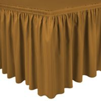 Shirred 11-Foot Polyester Table Skirt in Copper