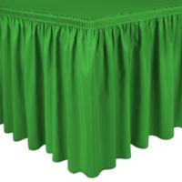 Shirred 11-Foot Polyester Table Skirt in Emerald