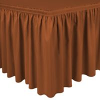 Shirred 11-Foot Polyester Table Skirt in Blood Orange