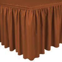 Shirred 21-Foot Polyester Table Skirt in Burnt Orange